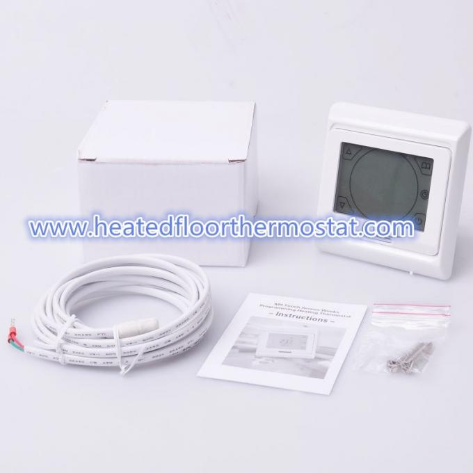16A Weekly Programmable Heated Floor Thermostat With Anti - Flammable PC