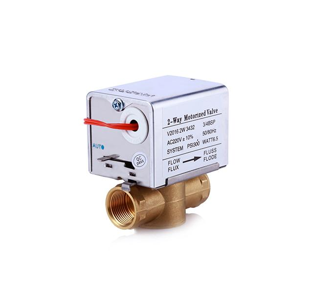 Fan Coil Spring Return Actuator Motorized Valve / 1.6 MPa Brass Ball Control Valve
