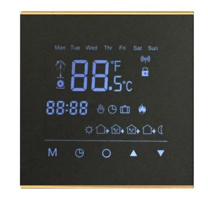 LCD Digital Touch Screen Ac Thermostat Temperature Controller Black Color