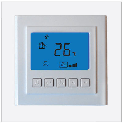 Electronic Digital Room Thermostat For Air Conditioning System , White Color