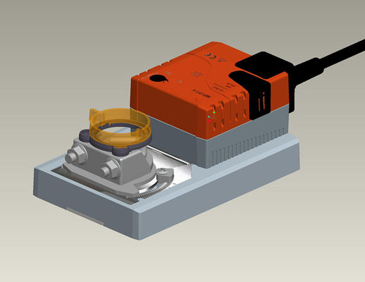 Rotary Motorized Air Damper Actuator , Non Spring Return Actuator 50/60Hz Frequency