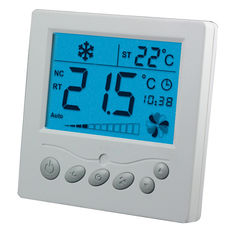 Professional Cooling Fan Coil Thermostat With White Large LCD Display