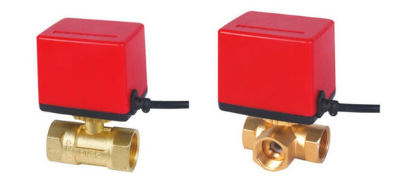 High Precision 2 / 3 Way Motorised Valve , Tight Close Motor Driven Ball Valve