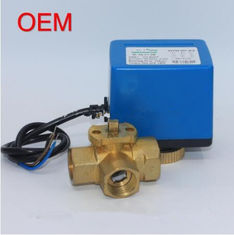 HVAC System Brass Electric Ball Valve / 3 Way Motorised Valve 50Hz Frequency