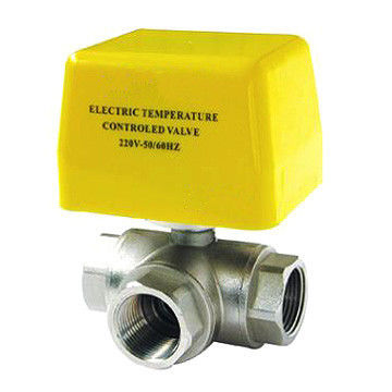 Brass Electric Motor Operated Ball Valve IP55 High Flow Capability