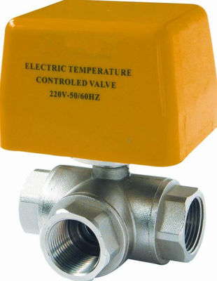 High Precision Brass Electric Ball Valve / Electrically Controlled Water Valve