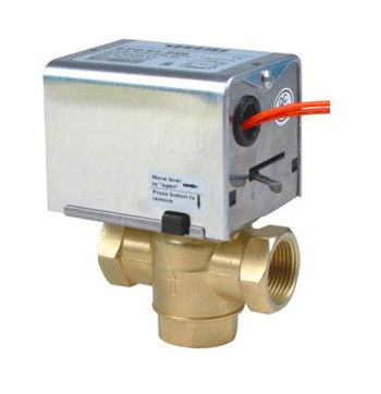 Fan Coil Unit Motorized Zone Valve Water Brass With 1.6MPa Low Pressure