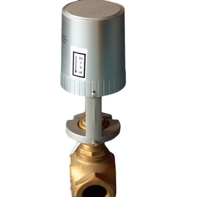 2 / 3 Way Steam Control Valves With Electric Actuators , Motorized Modulating Valve
