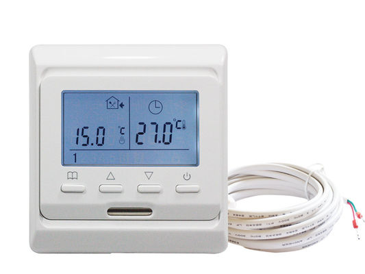 Programmable Room Heated Floor Thermostat 16A NTC Sensor With PC Housing