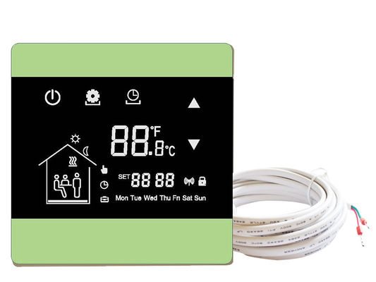 Underfloor heating wall thermostats floor heating thermostat controller with touch screen with NTC sensor