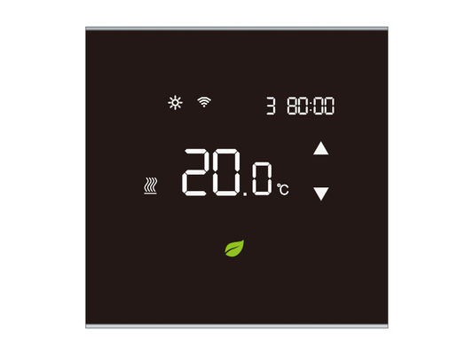 Electric Heated  Room Touch Screen Thermostat , Heating Air Conditioning Thermostats with NTC sensor