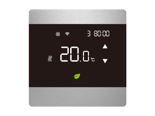 Intelligent LCD Touch Screen Thermostat / Digital Wall Thermostat CE Certification with Anti-flammable PC