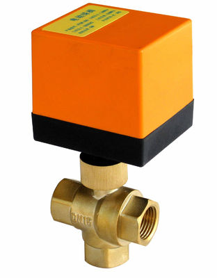 230VAC Electronic Water Flow Control Valve / 1.6Mpa Three Way Motorised Valve