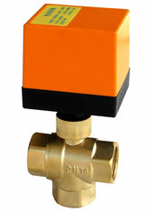 Professional Multiport Electric Ball Valve 50Hz No Leakage With Brass Material