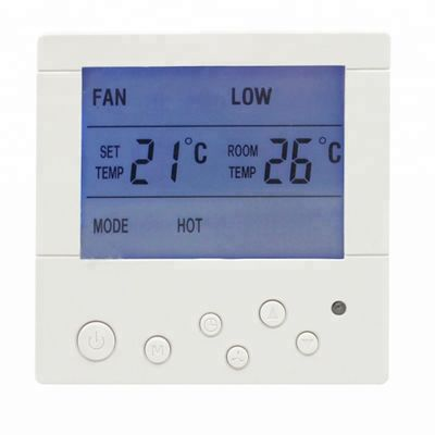 White Wall Mounted AC Digital Room Thermostat With CE Certificate