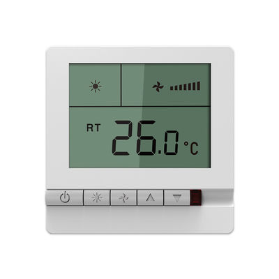 Wireless Fan Coil Room Thermostat High Accuracy With NTC Sensing Element