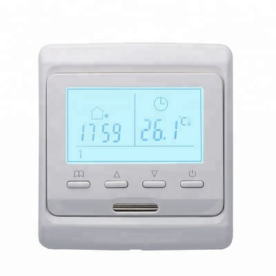 China 86*90*43mm White heated floor thermostat with NTC sensor supplier