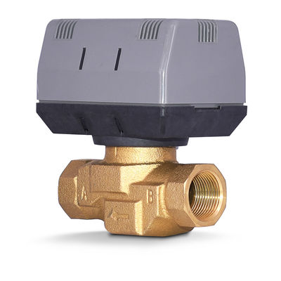 2 Way / 3 Way Brass Motorized Zone Valve 1.6MPA For Cold And Hot Water