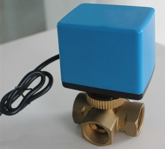 Low Pressure 3 Way Electric Motor Ball Valve On Off / 3 Point Floating Type