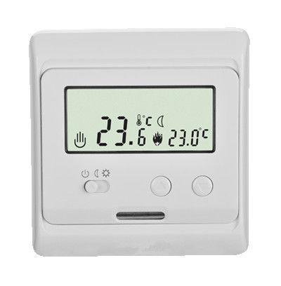 Digital Heated Floor Thermostat 16a Floor Sensor For Home , 2 Watt Power