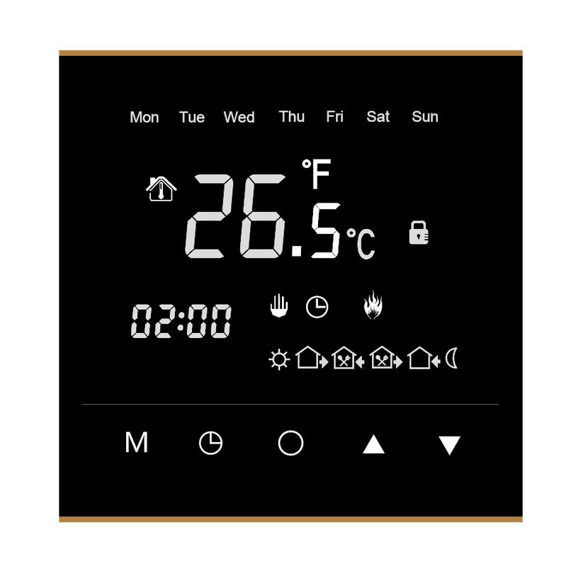 Professioanl Wireless Central Heating Thermostat Anti - Flammable PC
