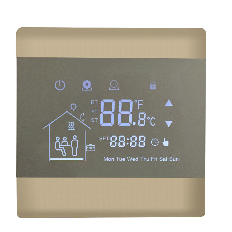 AC230V 50/60HZ Wireless Central Heating Thermostat Wall Mounted NTC Sensor