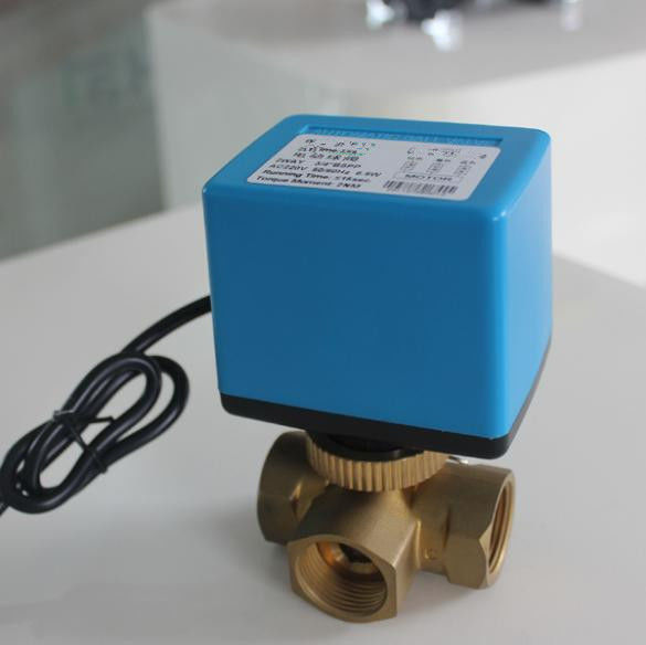 50/60Hz Fan Coil Electric Ball Valve / Electric Actuated Water Valves Medium Pressure
