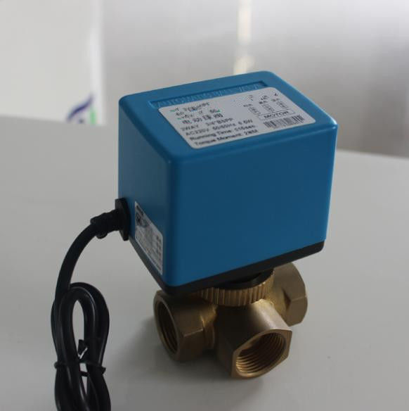 6 W Mixing Water Electric Ball Valve No Leakage For Heating / Cooling Systems