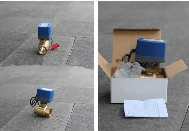 Durable Brass Electric Motor Control Ball Valve 15-18S Running Time