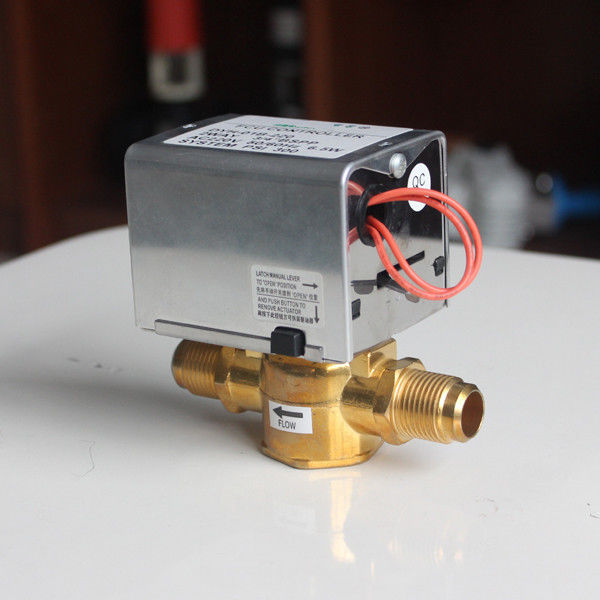 230VAC 3 Way Motorized Zone Valve BSPP Connection For FCU Chilled Water