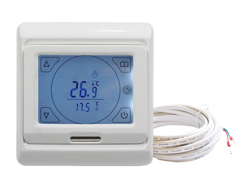 Floor Heating Touch Screen Programmable Electric Thermostat with Floor Sensor