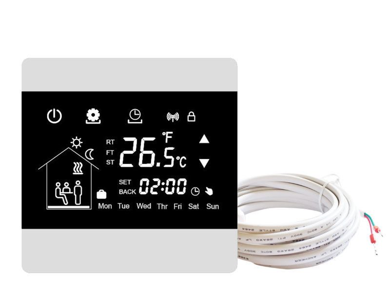 Wall Mount Touch Screen Thermostat AC230V 50Hz With HVAC Systems