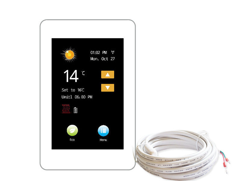Intelligent WIFI Touch Screen Thermostat Programmable For Home , PC Housing Material