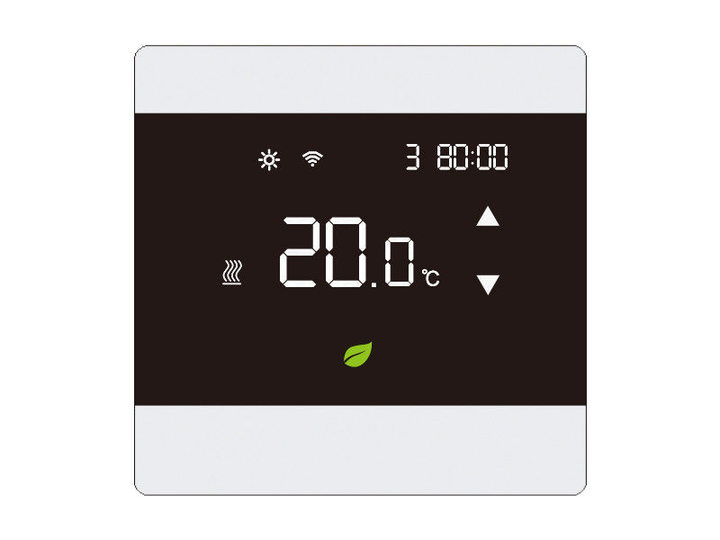 Heated Floor Digital Programmable Room Thermostat Touch Screen 16A Current