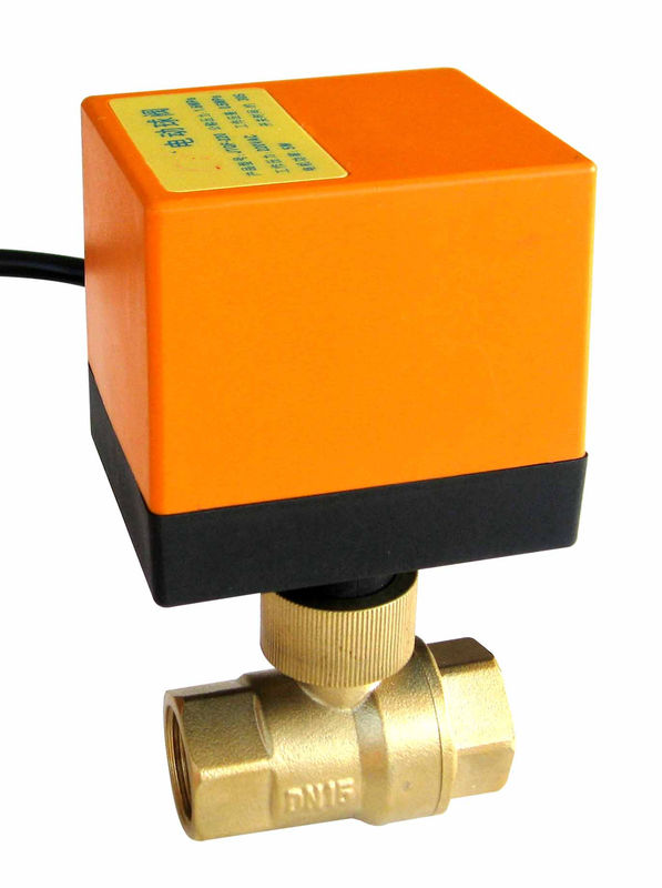 2 Way DN15 Electric Ball Valve Motor Operated For Cool / Heat Water System , 230VAC Power