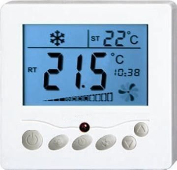 Flush Mounted Underfloor Heating Programmable Thermostat Digital Fan Coil Thermostat
