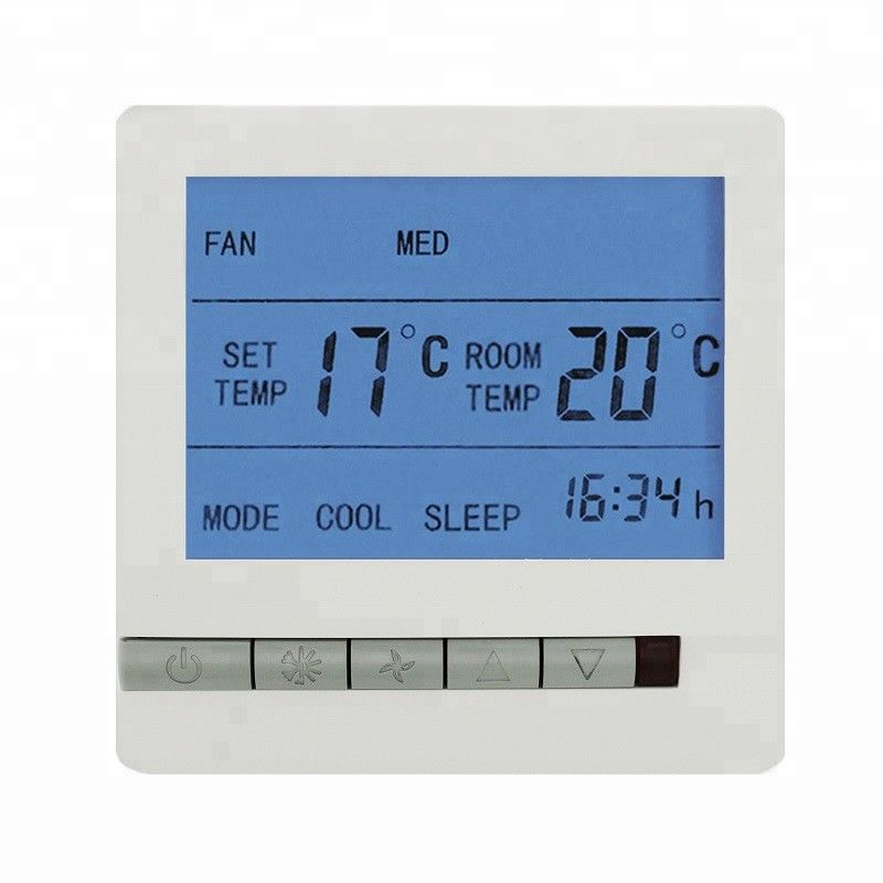 Large Display Remote Control Digital Room Thermostat For Fan Coil Unit