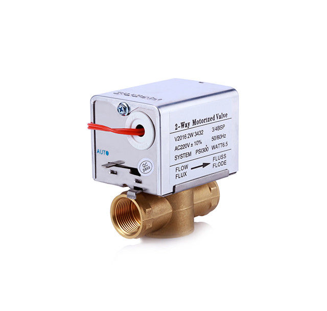 Electric Motor Motorized Zone Valve 50/60HZ For FCU Chilled Water