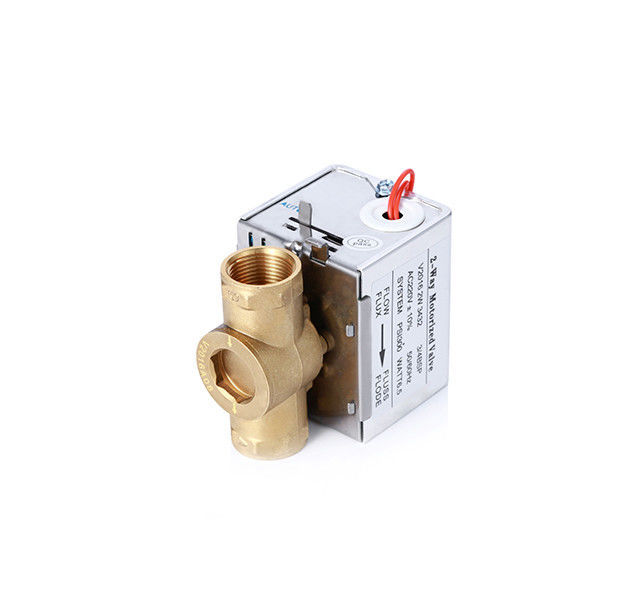 3/4 Inch Flare Connection Motorized Zone Valve 220VAC/24VAC For Chilled Water