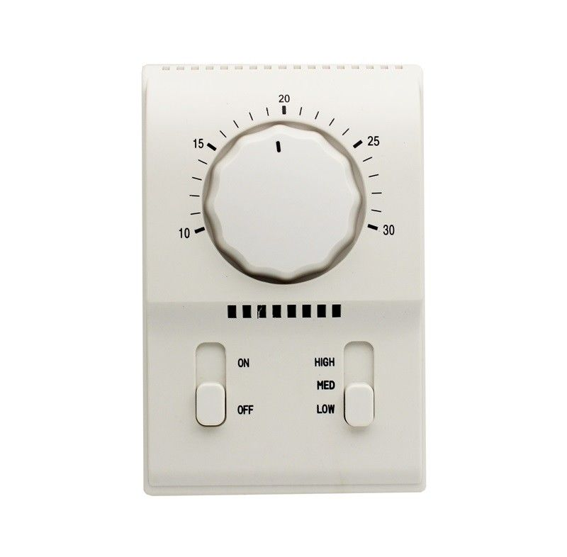 Mechanical Style Programmable Fan Coil Thermostat Temperature Controller 128*84*48mm