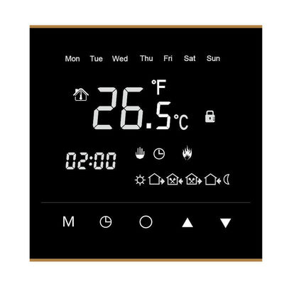 IP20 Wifi Room Thermostat , Touch Screen Room Thermostat 86mm X 86mm X11mm